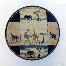 Arte: ARTE AFRICANO DE KENIA PLATO LEBRILLO DE CERÁMICA PINTADO A MANO - 30 CM. Lote 236167740