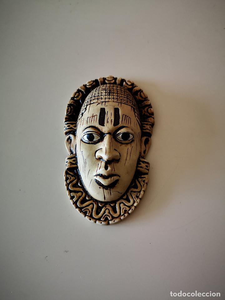 PRECIOSA MASCARA AFRICANA ARTE AFRICANO ESCULTURA 13 CENTIMETROS (Arte - Étnico - África)