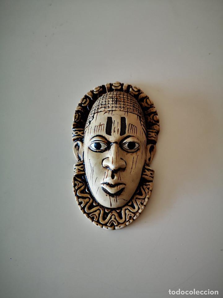 Arte: PRECIOSA MASCARA AFRICANA ARTE AFRICANO ESCULTURA 13 CENTIMETROS - Foto 5 - 236205755