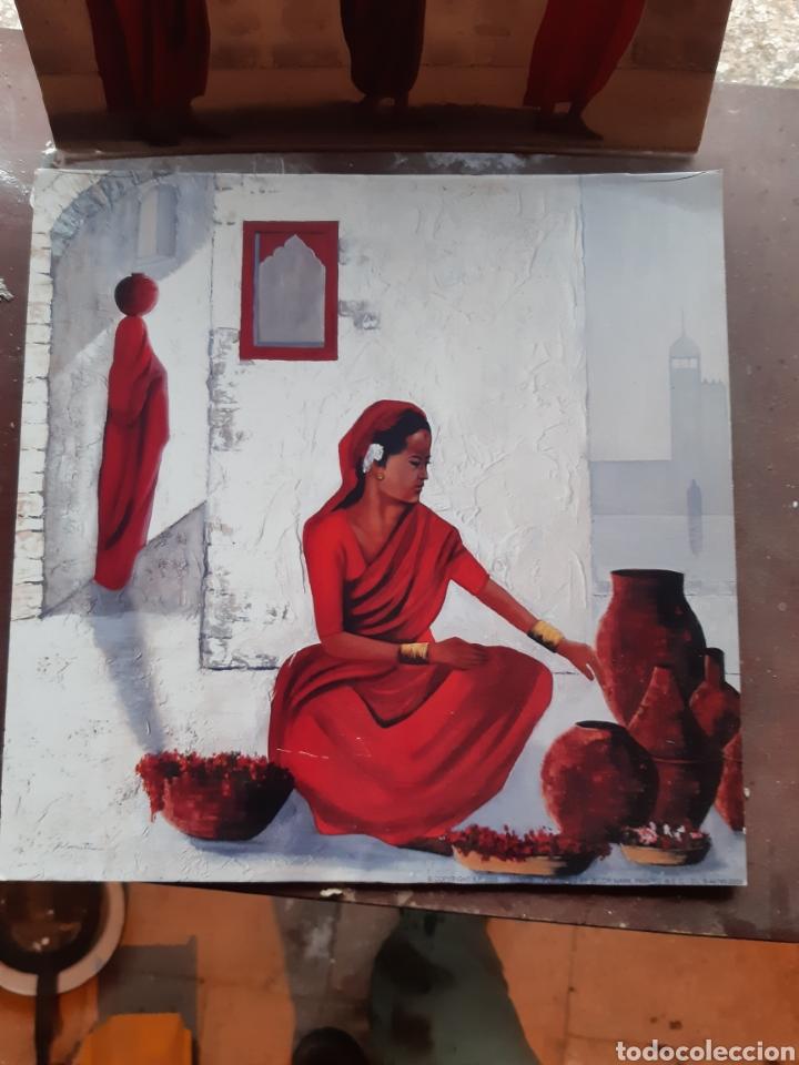 Arte: Cuadros 30x30 tipo etnicos,làmina en chapa de madera - Foto 3 - 236510945
