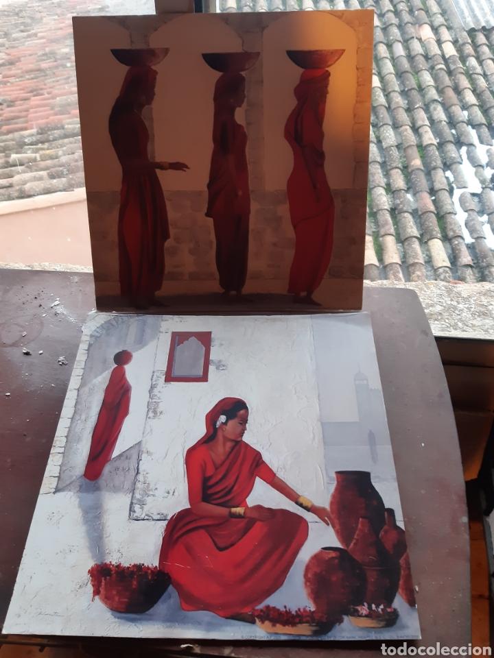 CUADROS 30X30 TIPO ETNICOS,LÀMINA EN CHAPA DE MADERA (Arte - Étnico - África)