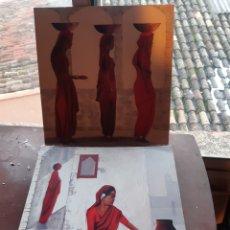Arte: CUADROS 30X30 TIPO ETNICOS,LÀMINA EN CHAPA DE MADERA. Lote 236510945