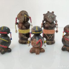 Arte: GRUPO DE FETICHES AFRICANOS TRIBU TIKAR EN TERRACOTA. Lote 236632795