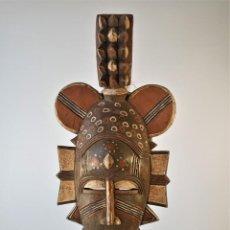 Arte: PRECIOSA MÁSCARA AFRICANA BAOULÉ, COSTA DE MARFÍL.. Lote 237336550