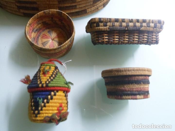Arte: CONTINENTES DE MATERIAS VEGETALES TRENZALES. PENDE / TUTSI. ÁFRICA. - Foto 3 - 237489980