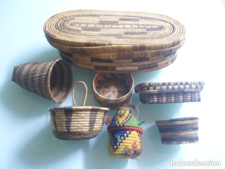 Arte: CONTINENTES DE MATERIAS VEGETALES TRENZALES. PENDE / TUTSI. ÁFRICA. - Foto 2 - 237489980