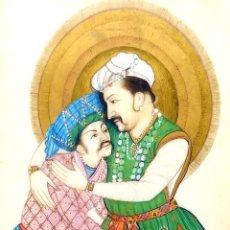Arte: RETRATO DE EMPERADOR MOGOL. PINTURA. GOUACHE Y ORO. INDIA. SIGLO XIX. Lote 240653125