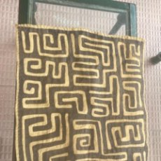Arte: TAPIZ RAFIA KUBA AFRICA KASAI, DE LA ETNIA KUBA, DEL CONGO PRECIOSA. Lote 240802770