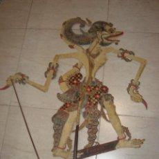 Arte: ANTIGUA MARIONETA TEATRO DE SOMBRAS WAYANG KULIT ASIATICO, INDONESIO O MALAYO DE JAVA. Lote 241993590