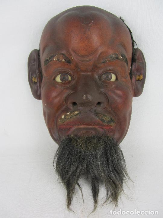 MÁSCARA JAPONESA DEL SIGLO XIX (Arte - Étnico - Asia)
