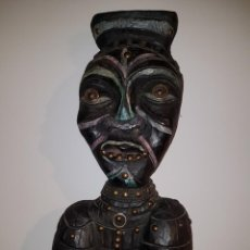 Arte: PIEZA AFRICANA ANTIGUO HECHICERO 1,40MTS.. Lote 243577755