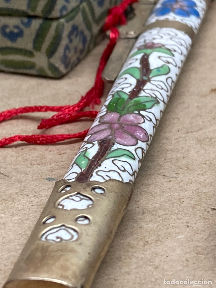 Arte: Katana decorativa con incrustaciones y cerámicas arte oriental - Foto 3 - 244474835