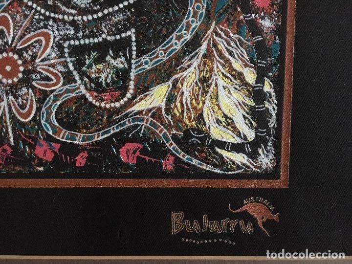 Arte: ARTE ABORIGEN AUSTRALIANO: PINTURA SOBRE TEXTIL -PAISAJE, NATURALEZA - Foto 2 - 246502515