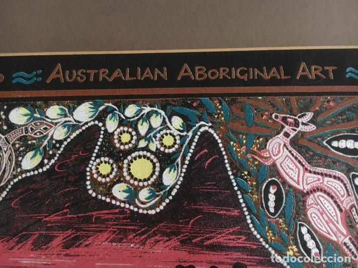 Arte: ARTE ABORIGEN AUSTRALIANO: PINTURA SOBRE TEXTIL -PAISAJE, NATURALEZA - Foto 4 - 246502515