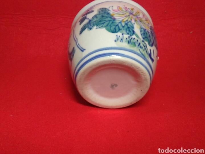 Arte: Antiguo cuenco chino ,de ceramica pintado a mano decoracion vegetal azul , - Foto 5 - 247416410