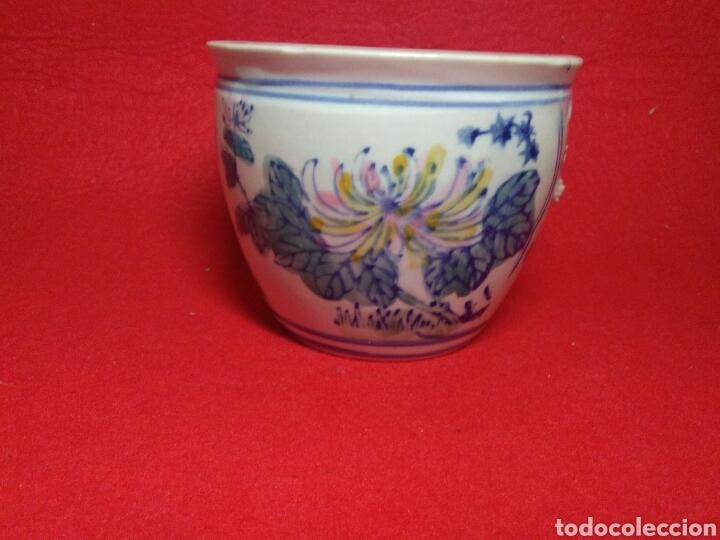 Arte: Antiguo cuenco chino ,de ceramica pintado a mano decoracion vegetal azul , - Foto 8 - 247416410