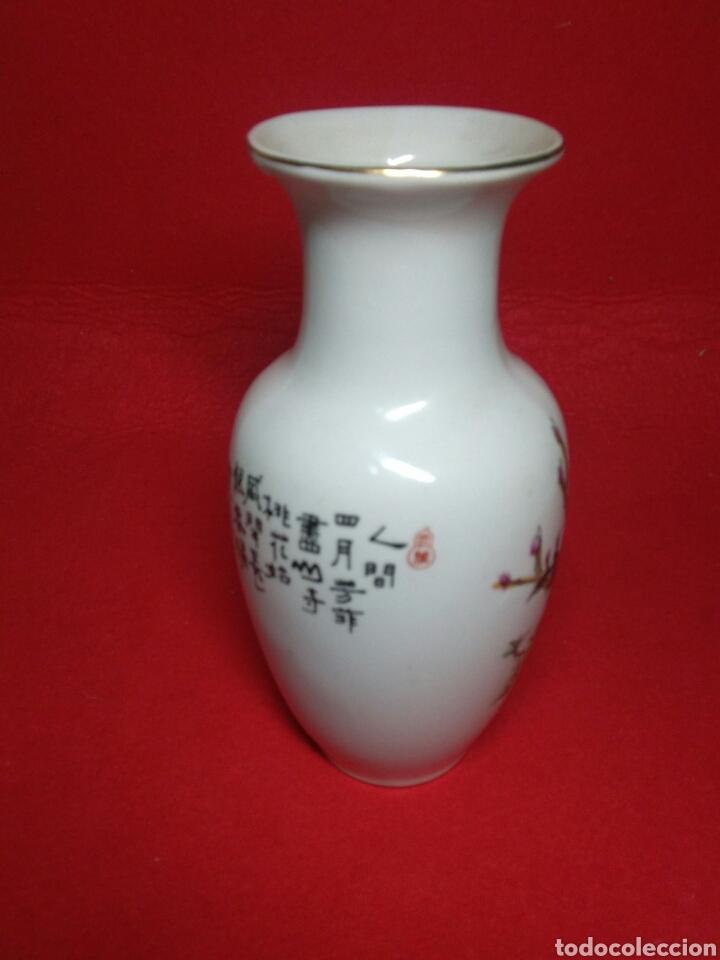 Arte: ceramica jarron chino ,decorancion florar y animal ,caligrafia china ,sellos de ceramista - Foto 8 - 247419960