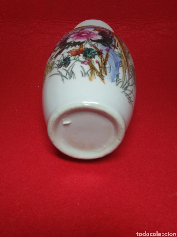 Arte: ceramica jarron chino ,decorancion florar y animal ,caligrafia china ,sellos de ceramista - Foto 10 - 247419960