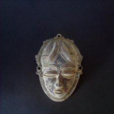 Arte: MASCARA AFRICANA DE METAL. Lote 248003735