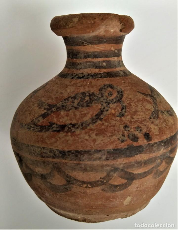 PREHISTORIA, EDAD DEL BRONCE, VALLE DEL INDO. PRECIOSA JARRITA CON AVES. 2ºM A.C. 70MM. (Arte - Étnico - Asia)
