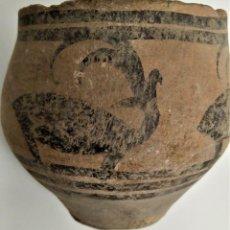 Arte: EDAD DEL BRONCE, VALLE DEL INDO. VASIJA CON CIERVOS ESTILIZADOS. 63MM. III M.A.C.. Lote 36313556