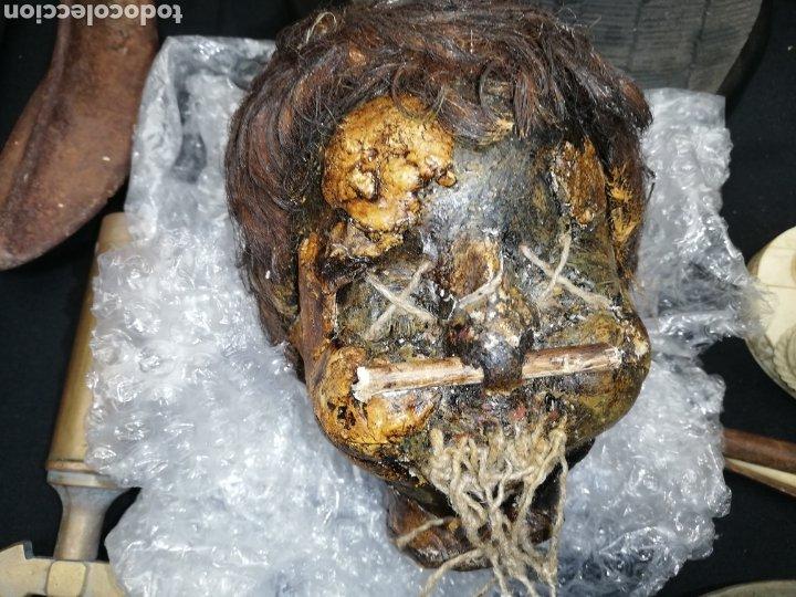 Arte: Cabeza reducida....jibaro... Amazona...es de piel y cabello de animal..Se utilizo atresso de cine. - Foto 5 - 248576315