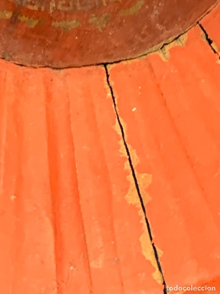Arte: CESTO CUENCO CENTRO MADERA LACADA MOTIVOS FLORALES OFRENDA INDONESIA S XIX XX 11,5X23,5CMS - Foto 15 - 249320015