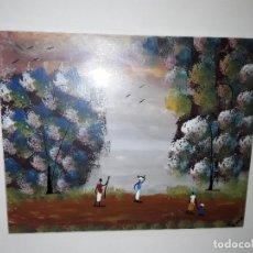 Arte: CUADRO COMPRADO EN ÁFRICA.ACUARELA.FIRMADO.N GASSA.. Lote 251834205