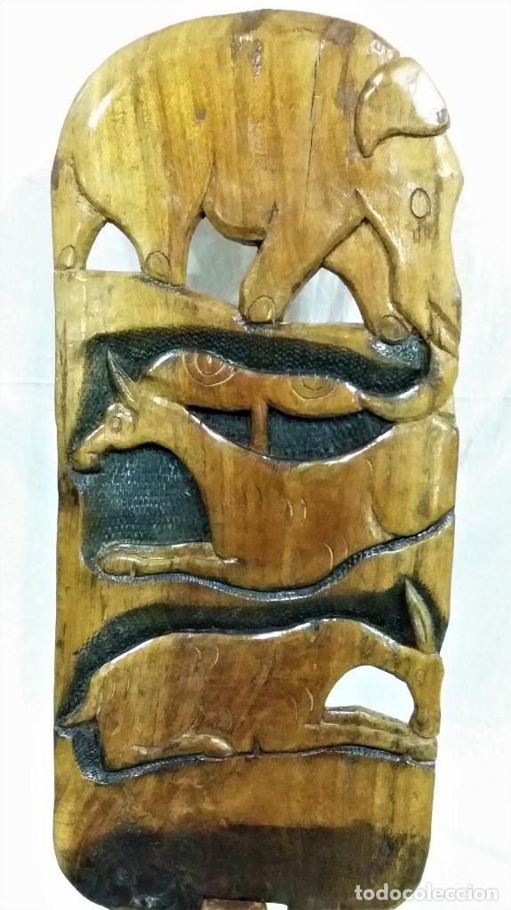 Arte: OFERTA HASTA EL 31 AGOSTO: Curiosa silla de parto Africana artesanal tallada en madera maciza - Foto 7 - 252162130