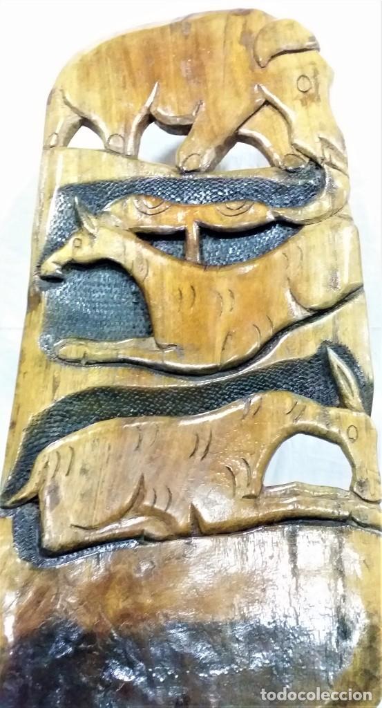 Arte: OFERTA HASTA EL 31 AGOSTO: Curiosa silla de parto Africana artesanal tallada en madera maciza - Foto 8 - 252162130