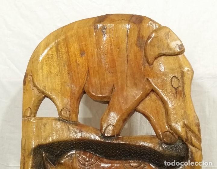 Arte: OFERTA HASTA EL 31 AGOSTO: Curiosa silla de parto Africana artesanal tallada en madera maciza - Foto 9 - 252162130