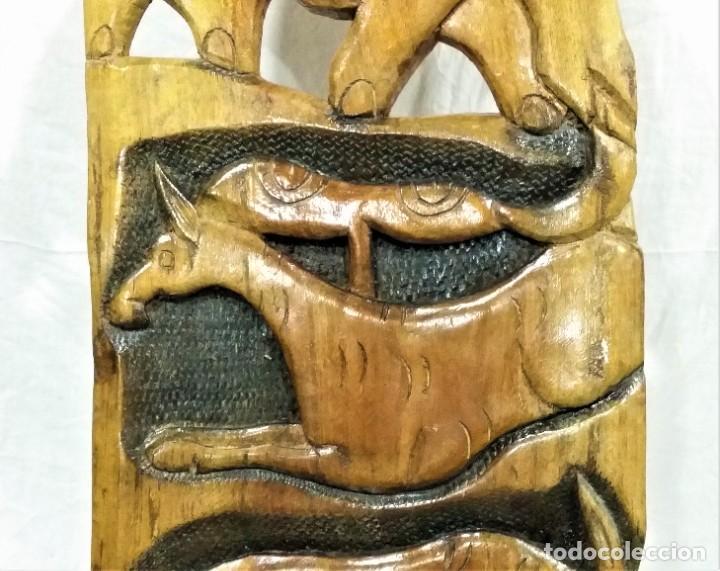 Arte: OFERTA HASTA EL 31 AGOSTO: Curiosa silla de parto Africana artesanal tallada en madera maciza - Foto 10 - 252162130