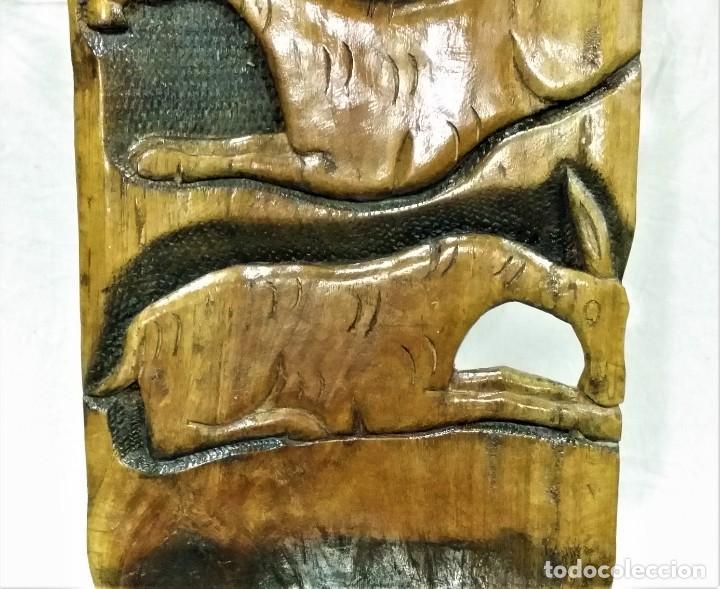Arte: OFERTA HASTA EL 31 AGOSTO: Curiosa silla de parto Africana artesanal tallada en madera maciza - Foto 11 - 252162130