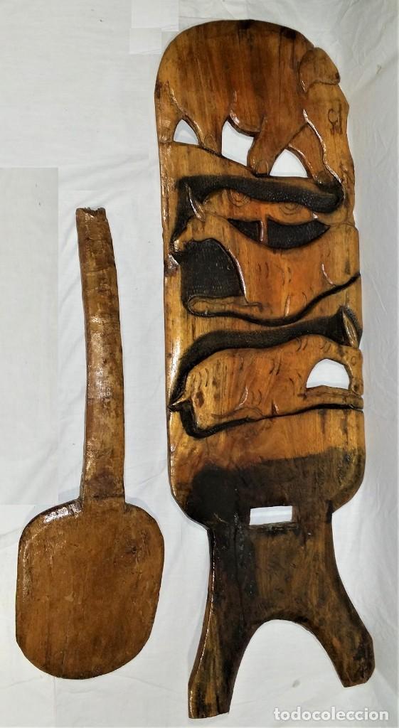 Arte: OFERTA HASTA EL 31 AGOSTO: Curiosa silla de parto Africana artesanal tallada en madera maciza - Foto 17 - 252162130