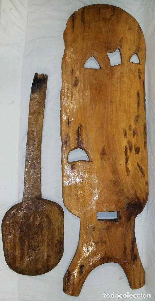Arte: OFERTA HASTA EL 31 AGOSTO: Curiosa silla de parto Africana artesanal tallada en madera maciza - Foto 18 - 252162130