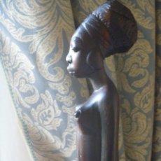 Arte: FIGURA AFRICANA LUBA PIEZA MBOKO ERÓTICA MUJER CUENCO CEREMONIA ADIVINACIÓN. Lote 252171795