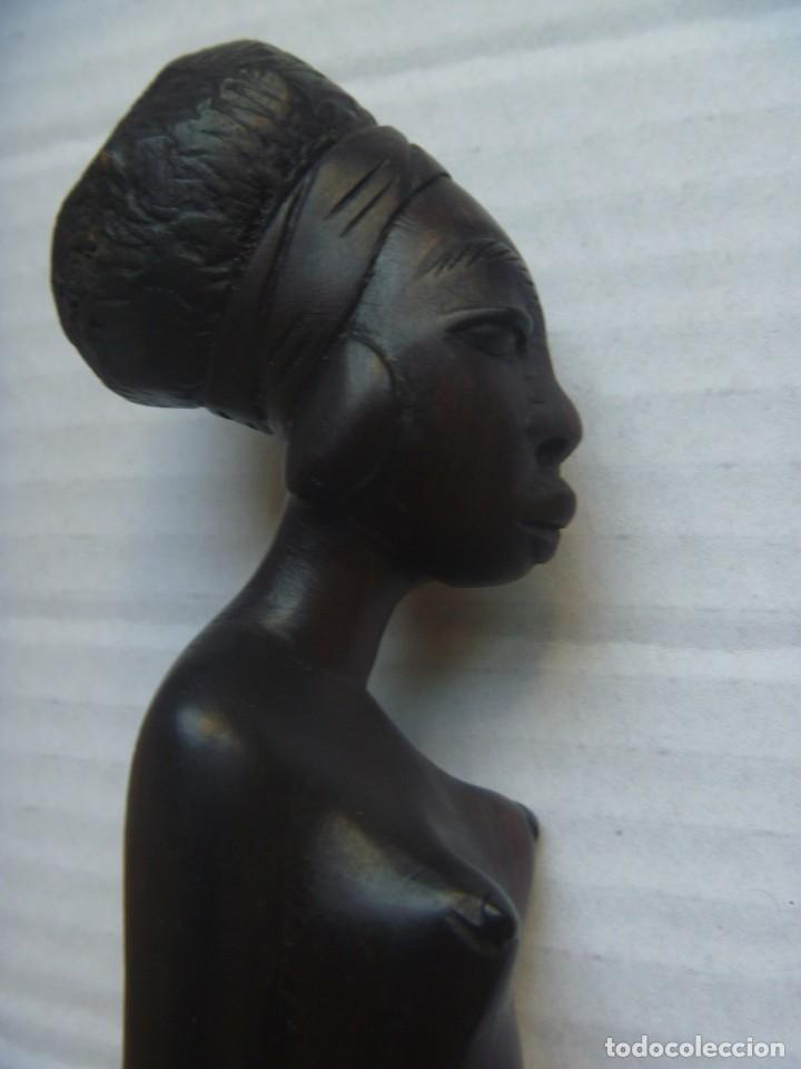 Arte: FIGURA AFRICANA LUBA PIEZA MBOKO ERÓTICA MUJER CUENCO CEREMONIA ADIVINACIÓN - Foto 7 - 252171795