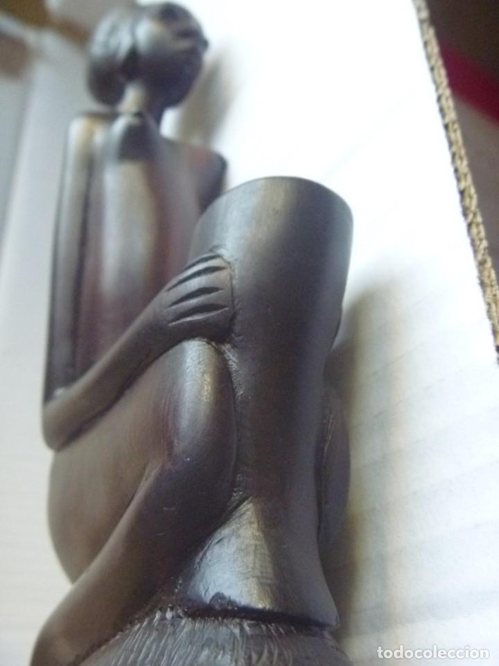 Arte: FIGURA AFRICANA LUBA PIEZA MBOKO ERÓTICA MUJER CUENCO CEREMONIA ADIVINACIÓN - Foto 8 - 252171795