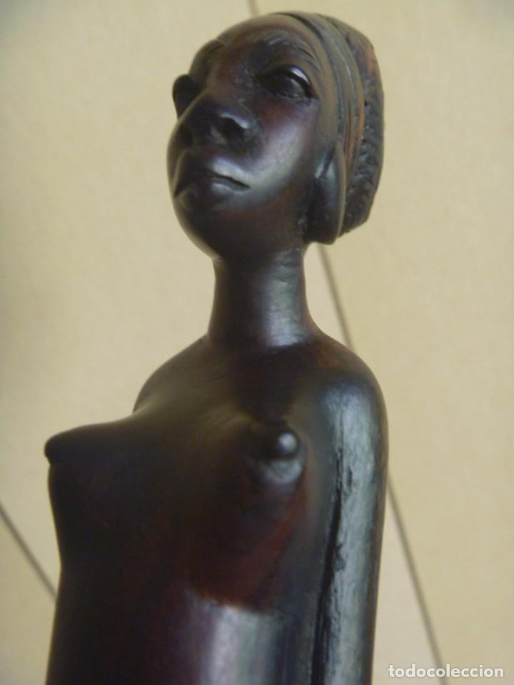 Arte: FIGURA AFRICANA LUBA PIEZA MBOKO ERÓTICA MUJER CUENCO CEREMONIA ADIVINACIÓN - Foto 15 - 252171795