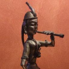 Arte: ANTIGUA FIGURA INDIA DE METAL.. Lote 252522950