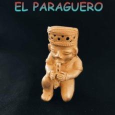 Arte: INDIO ANDINO TOCANDO LA FLAUTA PRECOLOMBINO QUIMBAYA DE ORO TUMBAGA PESO 76 GRAM-W14. Lote 252846030