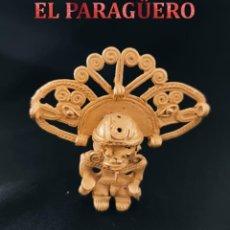 Arte: CHAMAN CORONADO ANTROPOMORFICO QUIMBAYA DE ORO TUMBAGA PESO 53 GRAM-W34. Lote 253505505