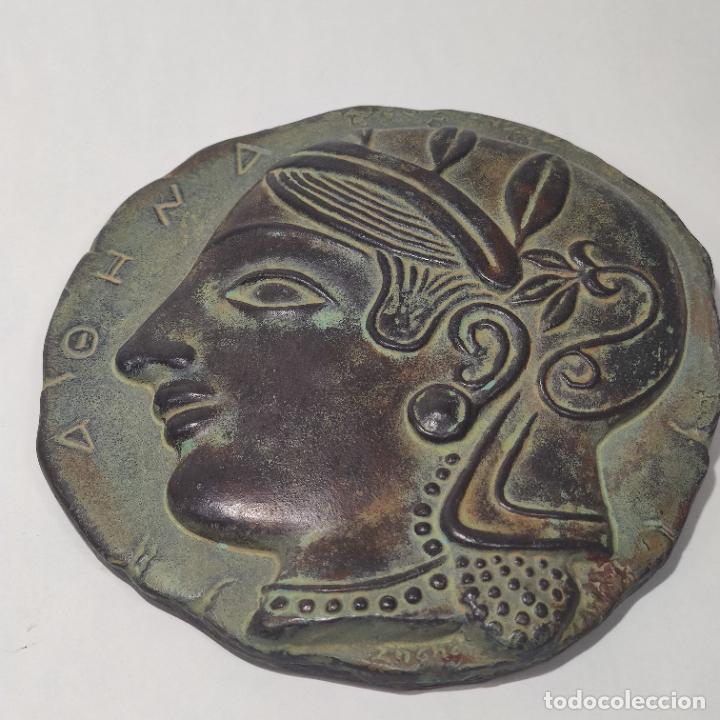 Arte: Muy bellos medallones griegos de Alejandro Magno y Diosa Aohna. Imitación a bronce patinado antiguo. - Foto 3 - 253695175