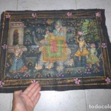 Arte: ANTIGUA PINTURA ORIENTAL SOBRE TELA, A IDENTIFICAR, DE LA INDIA.. Lote 253931870