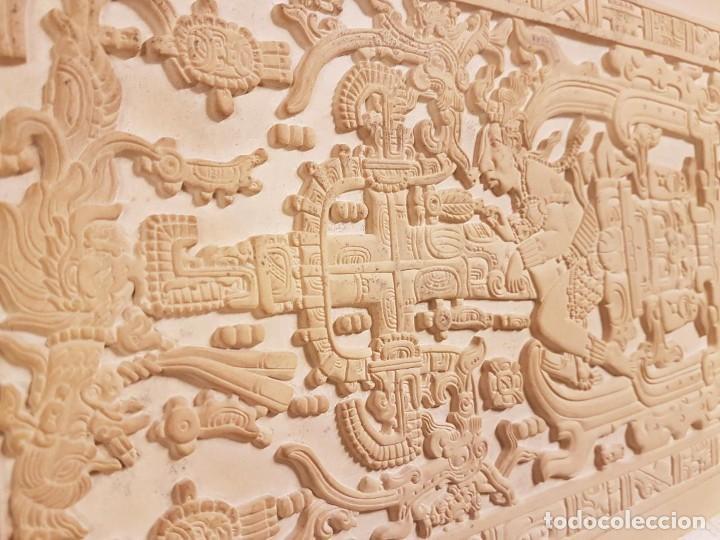 Arte: LOSA TUMBA EL ASTRONAUTA DE PALENQUE /ORIGINAL /HECHA A MANO EN PALENQUE - MÉXICO - OVNIS - Foto 5 - 254288970