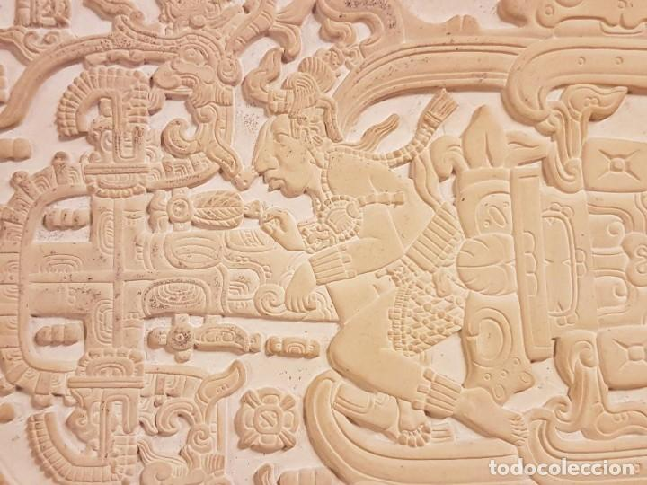 Arte: LOSA TUMBA EL ASTRONAUTA DE PALENQUE /ORIGINAL /HECHA A MANO EN PALENQUE - MÉXICO - OVNIS - Foto 7 - 254288970
