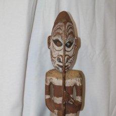 Art: ARTE ÉTNICO , TALLA DE GUERRERO PAPÚA NUEVA GUINEA. Lote 254728495