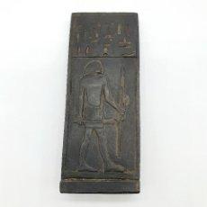 Arte: SOUVENIR EGIPCIO ANTIGUO DE REPLICA DE JEROGLÍFICO EN SÍMIL DE PIEDRA CALIZA .. Lote 255524930