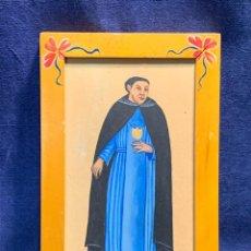 Arte: GOUACHE PAPEL SINCRETISMO INDONESIA RETRATO CLERIGO SACERDOTE EUROPEO CATOLICO PPIO S XX 26X17CMS. Lote 257792135