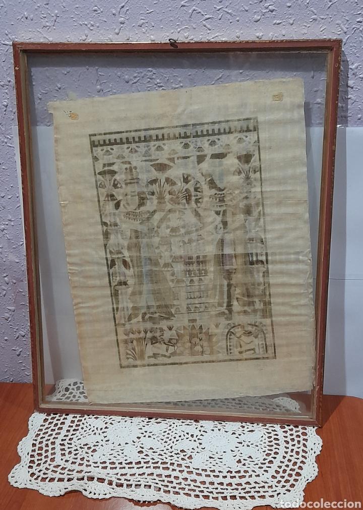 Arte: Papiros firmado Antiguo, enmarcado de 51 X 41 Cm. Ver fotos - Foto 5 - 258641450